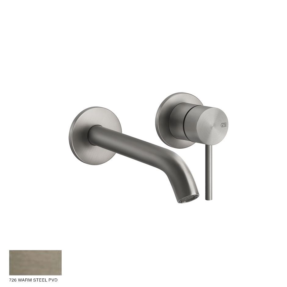 Gessi 316 Built-in Mixer with spout Flessa, without waste 726 Warm Bronze Brushed PVD