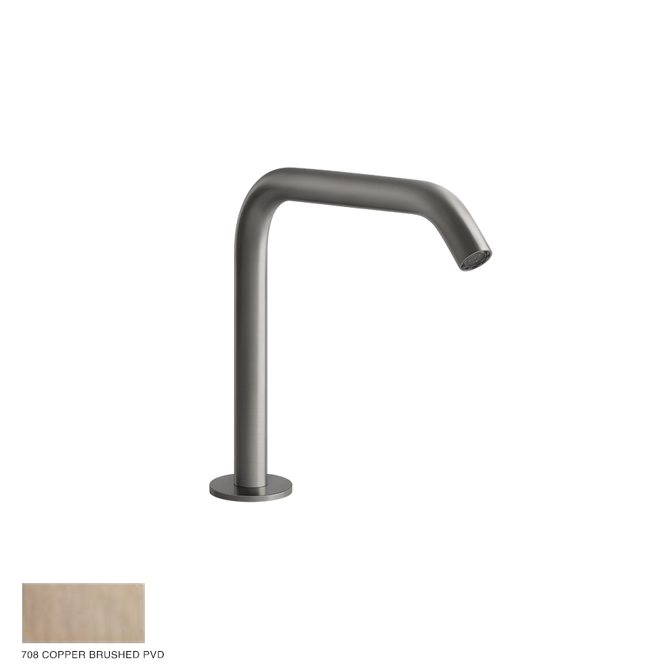Gessi 316 Counter spout 162mm, with seperate control 708 Copper Brushed PVD