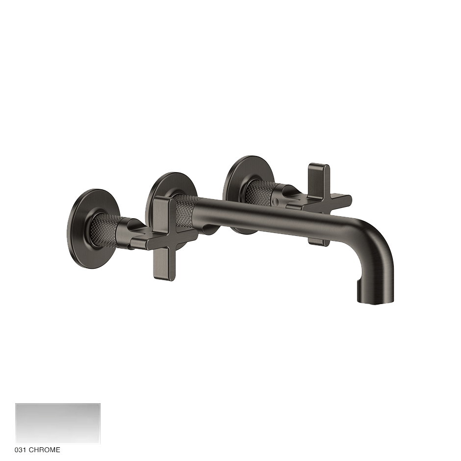 Inciso+ Three-hole Basin Mixer with spout, without waste 031 Chrome