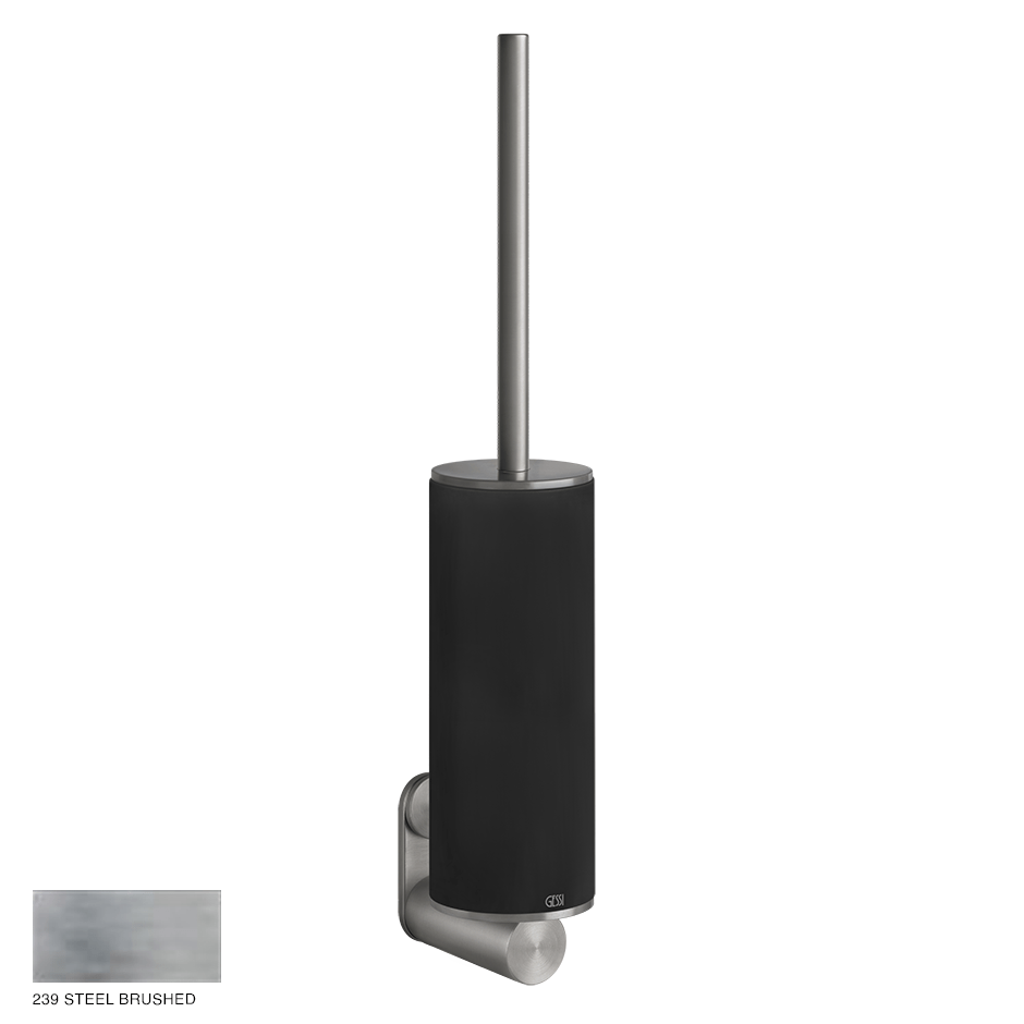 Gessi 316 Wall-mounted brush holder 239 Steel brushed