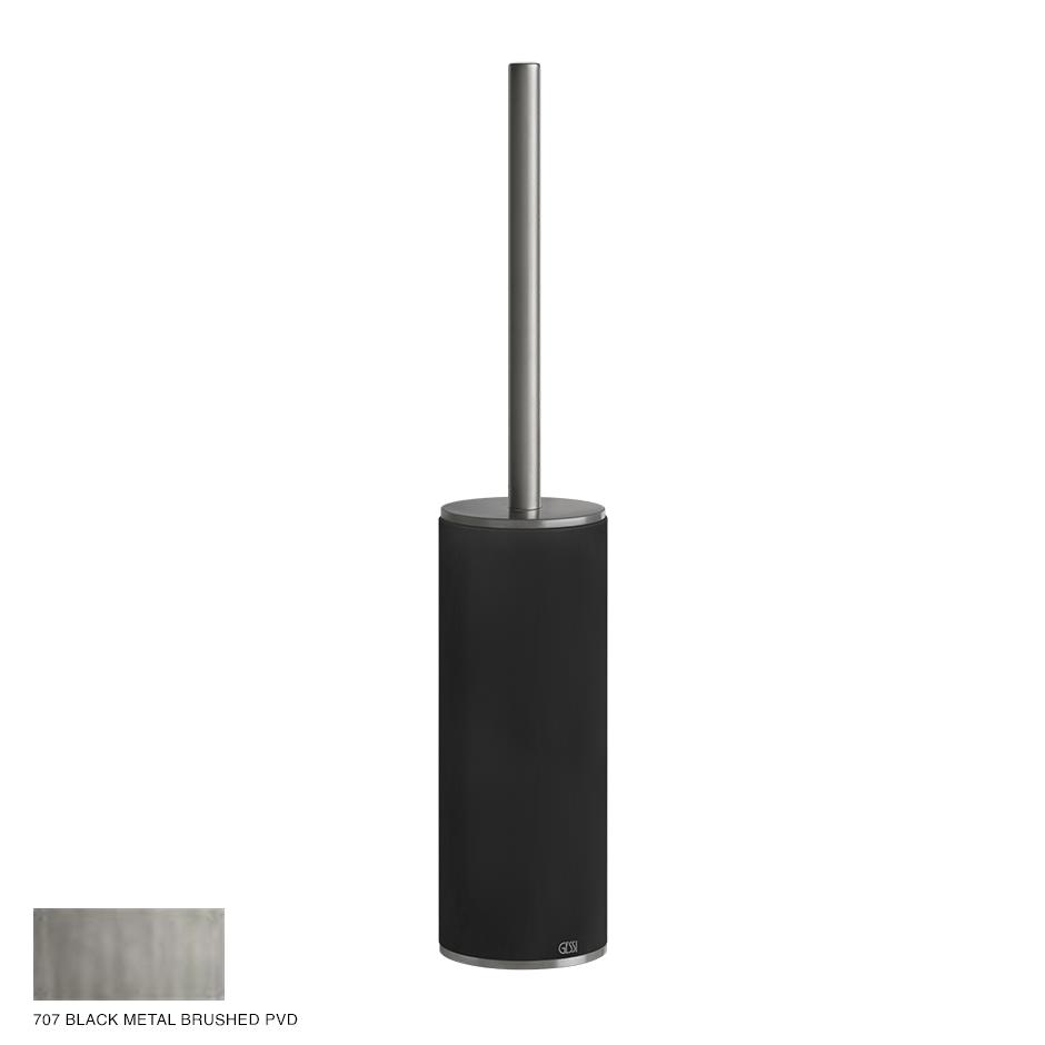 Gessi 316 Standing brush holder 707 Black Metal Brushed