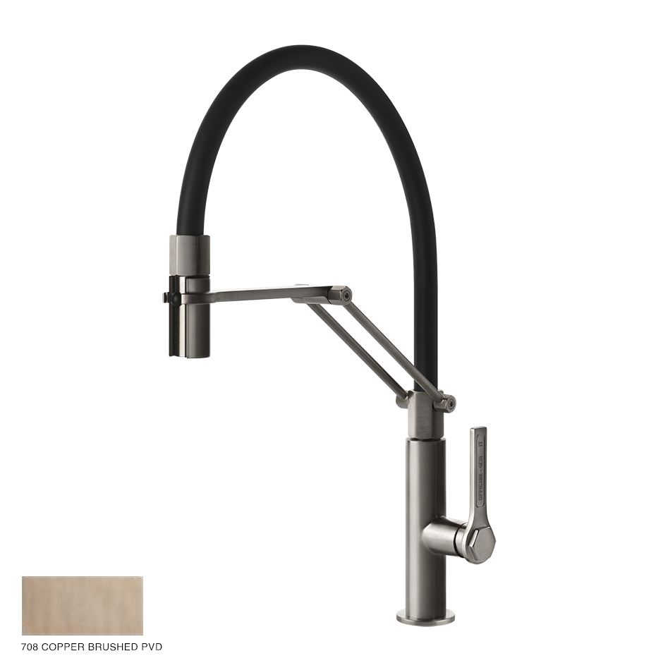 Gessi Officine Kitchen Mixer 708 Copper Brushed PVD