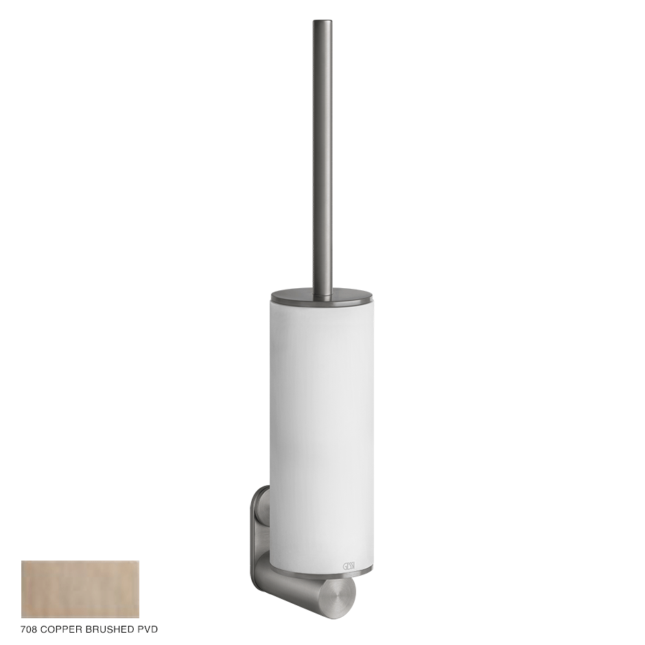 Gessi 316 Wall-mounted brush holder 708 Copper Brushed PVD