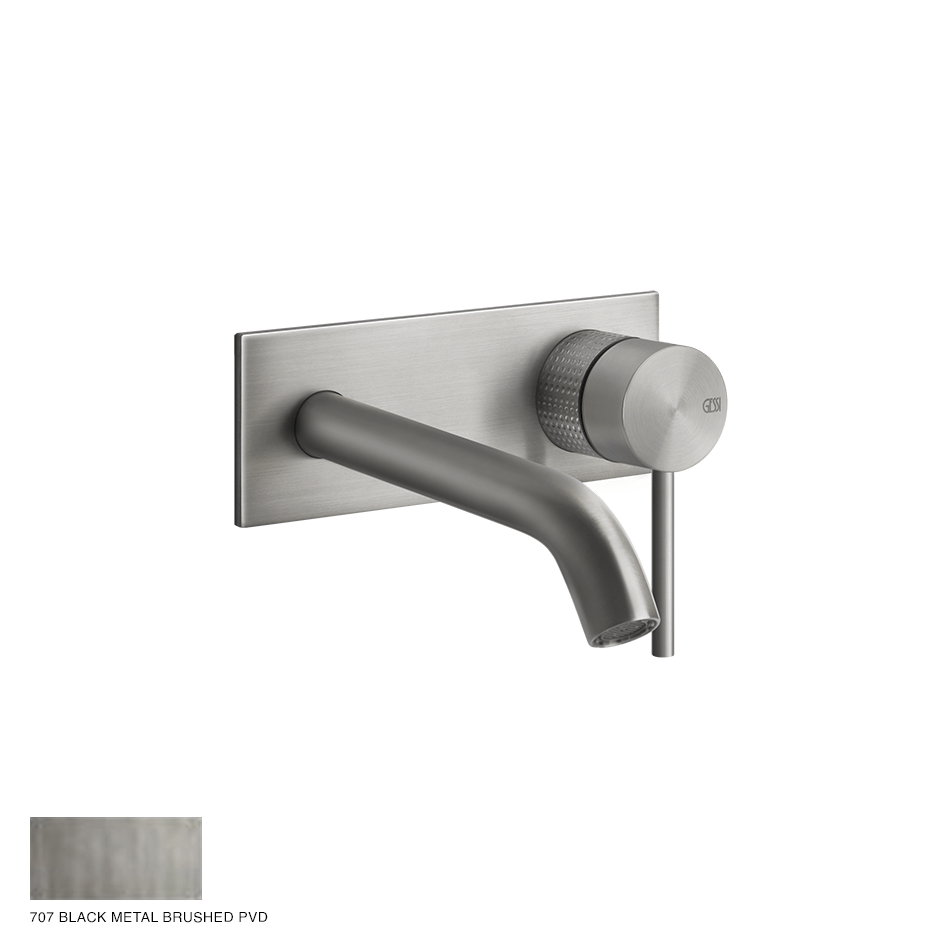 Gessi 316 Built-in Mixer with spout Cesello, without waste 707 Black Metal Brush