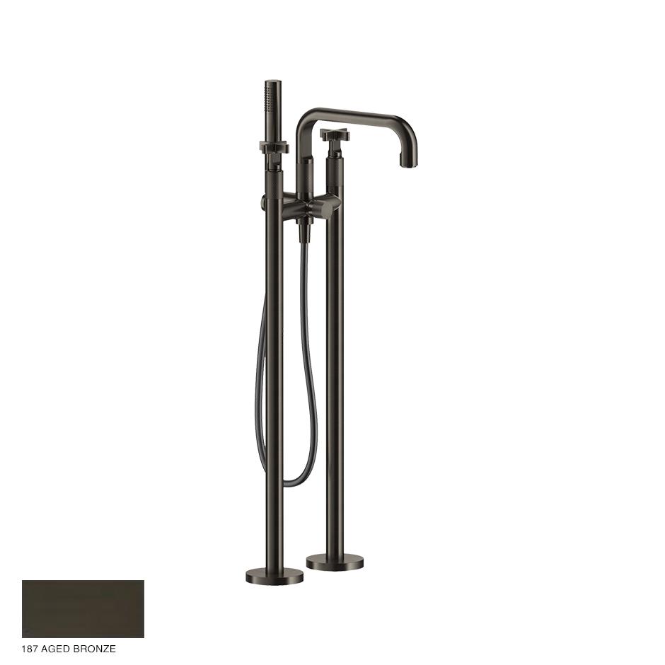 Inciso+ Freestanding External Bath Mixer with handshower 187 Aged Bronze