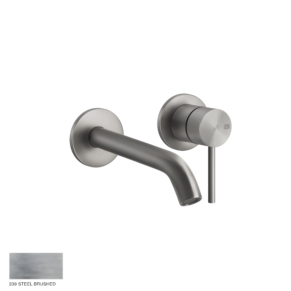 Gessi 316 Built-in Mixer with spout Flessa, without waste 239 Steel brushed