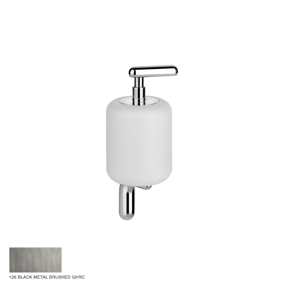 Goccia Wall-mounted soap dispenser 126 Black Metal Brushed GHRC