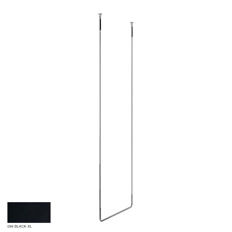 Goccia Ceiling towel rail, 60cm width, 180cm height 099 Black XL