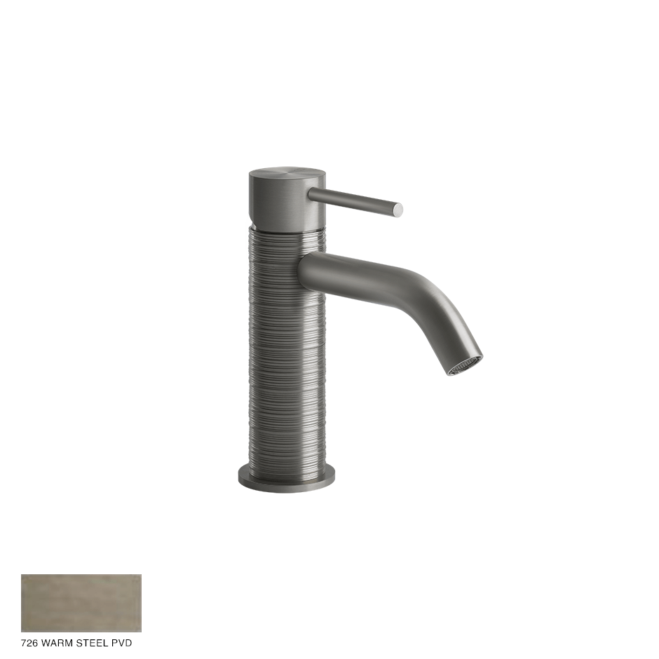 Gessi 316 Basin Mixer Trame, without waste 726 Warm Bronze Brushed PVD