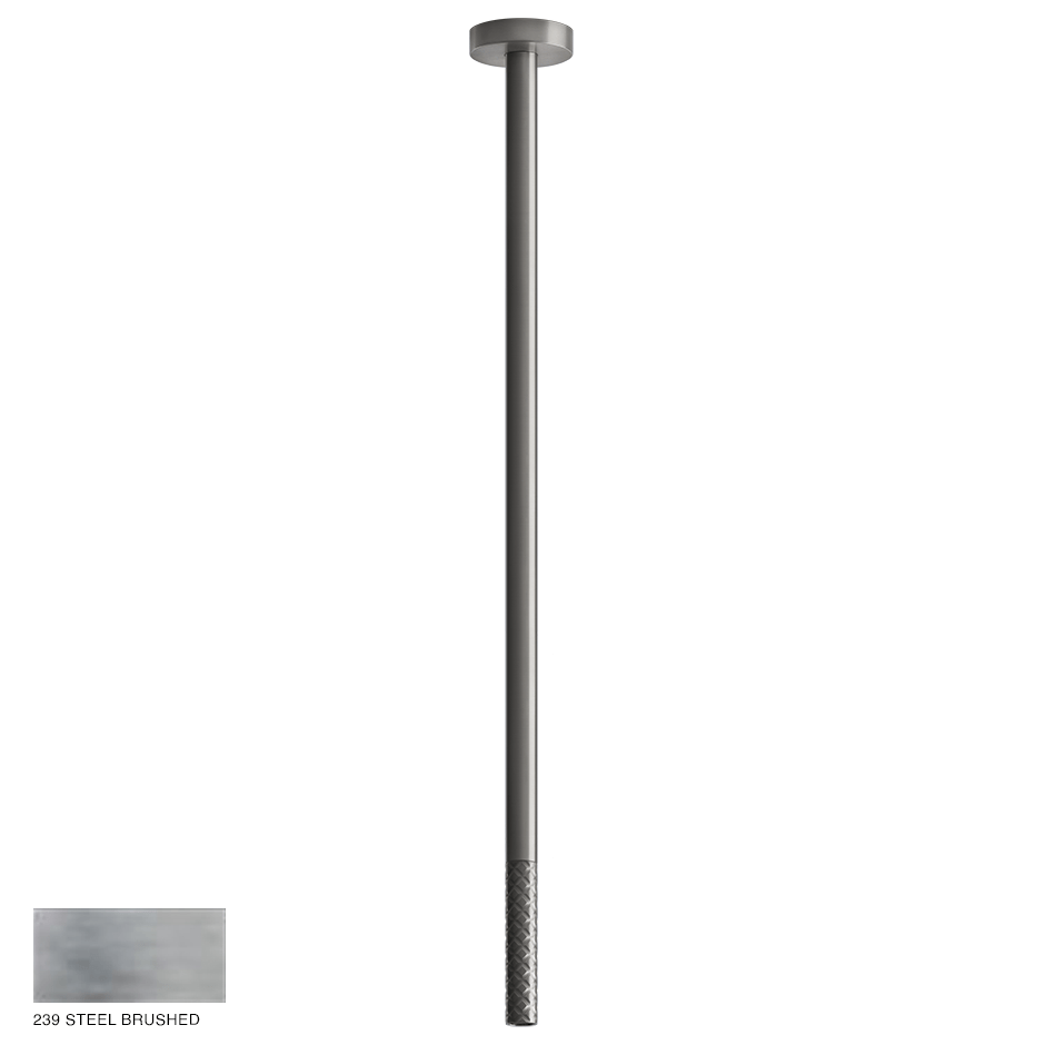 Gessi 316 Ceiling-mounted spout Intreccio, custom length 239 Steel brushed