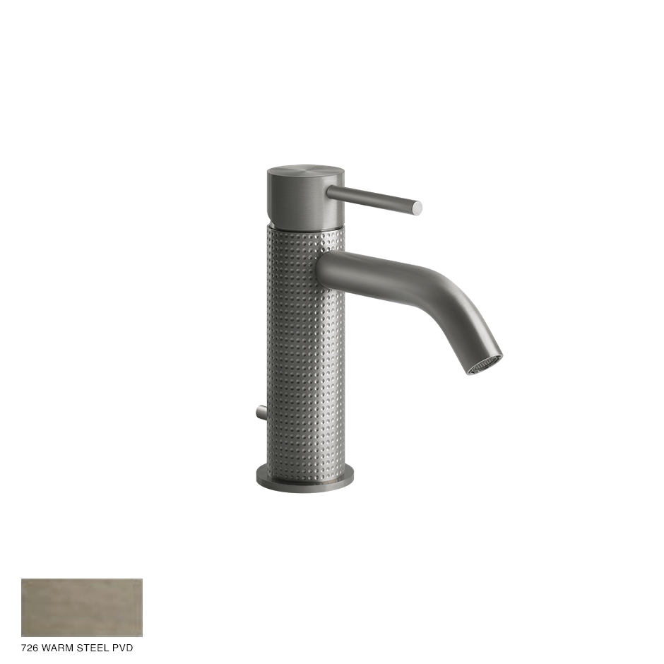Gessi 316 Basin Mixer Cesello, with pop-up waste 726 Warm Bronze Brushed PVD