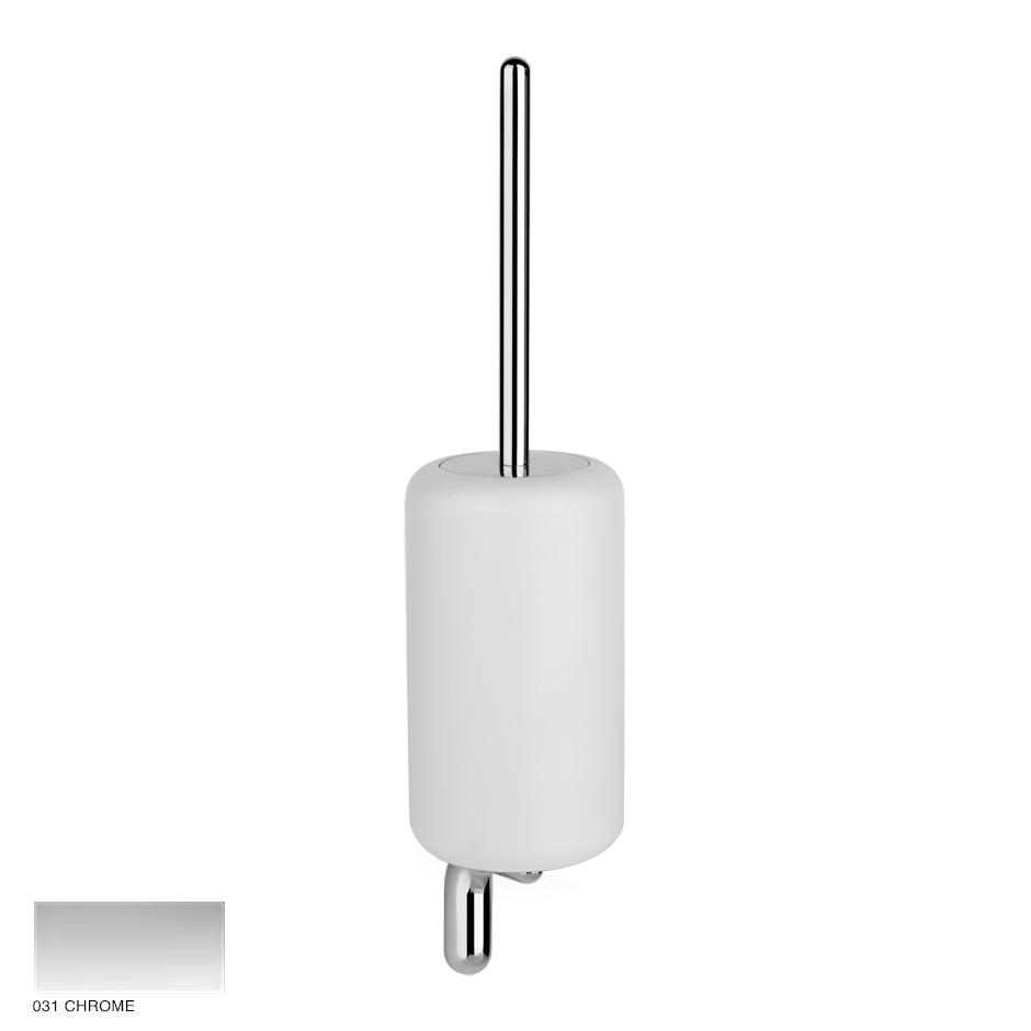 Goccia Wall-mounted brush holder 031 Chrome
