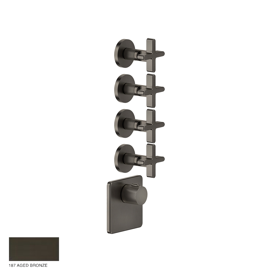 Inciso Wellness Built-in mixer, four outlets 187 Aged Bronze