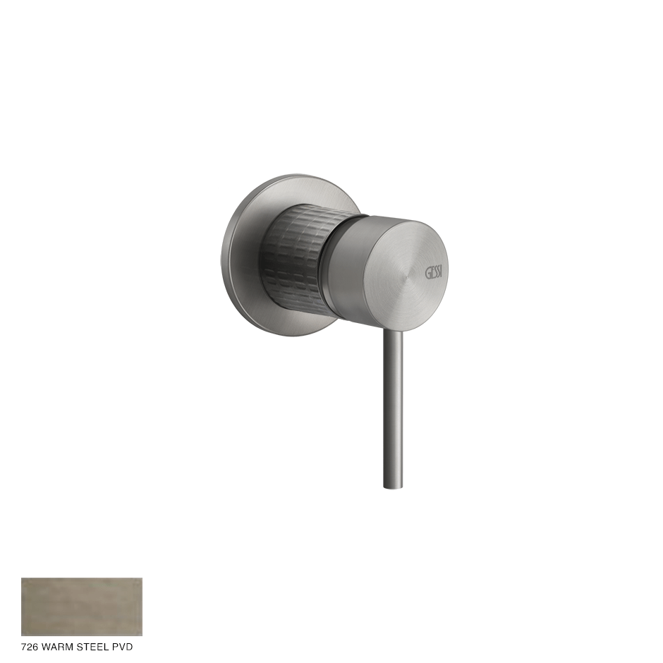 Gessi 316 Built-in mixer Meccanica, one-way 726 Warm Bronze Brushed PVD