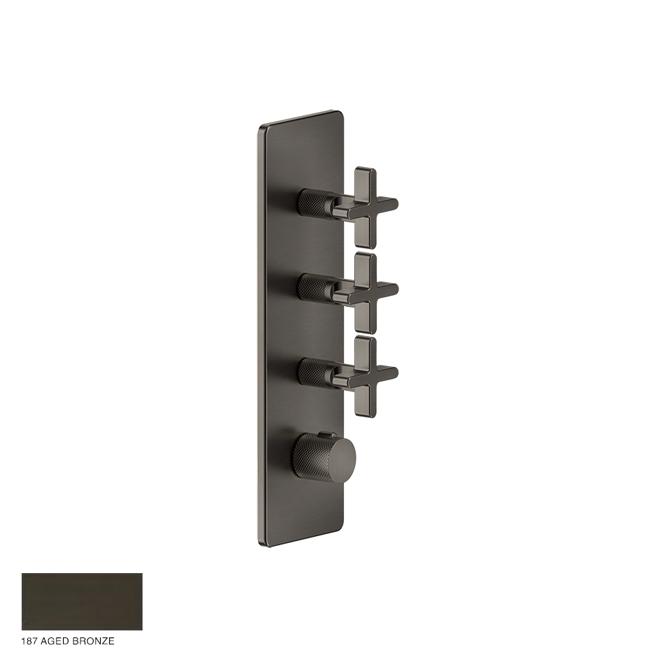 Inciso Wellness Built-in mixer, three outlets 187 Aged Bronze