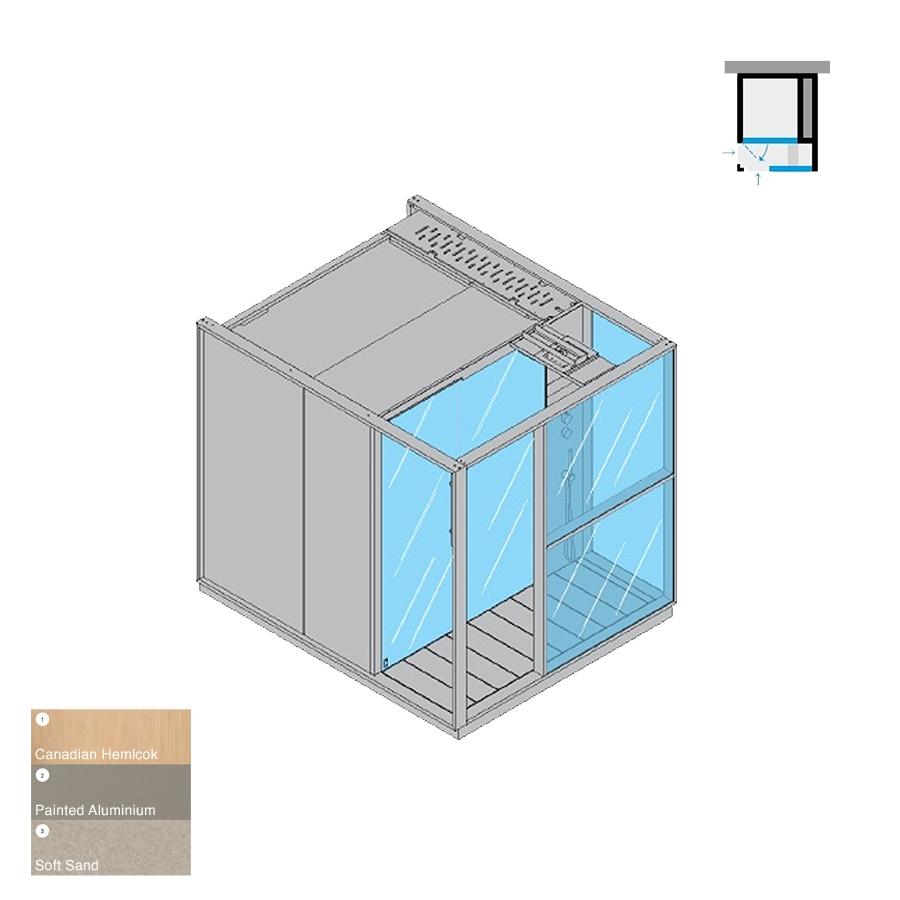 Logica S Peninsula RH Soft Sand 214x250x226h 6kW