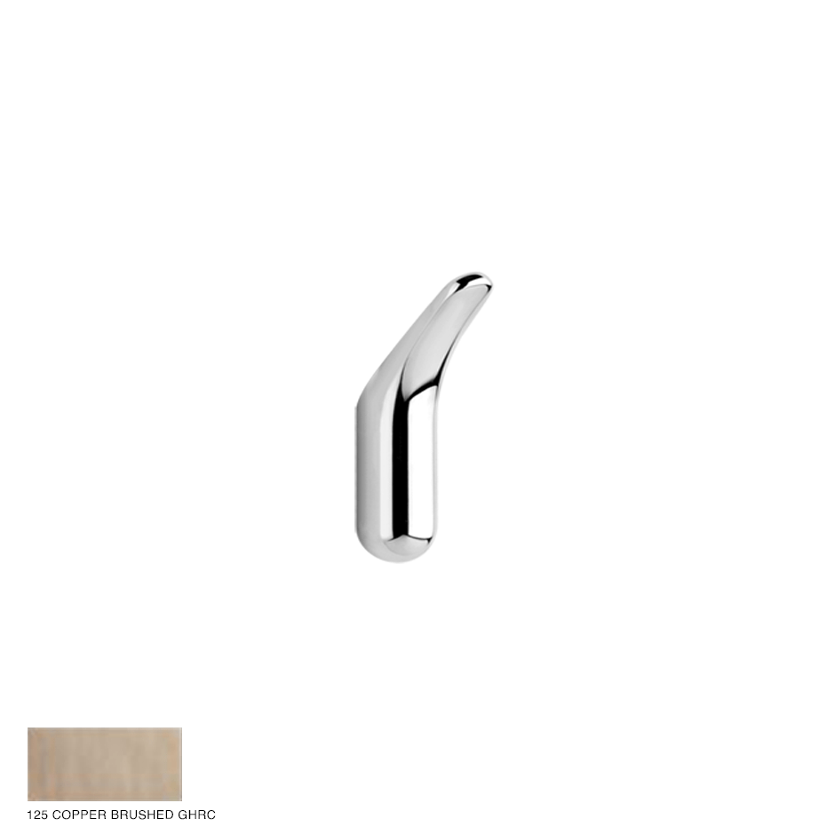 Goccia Wall-mounted robe hook 125 Copper Brushed GHRC