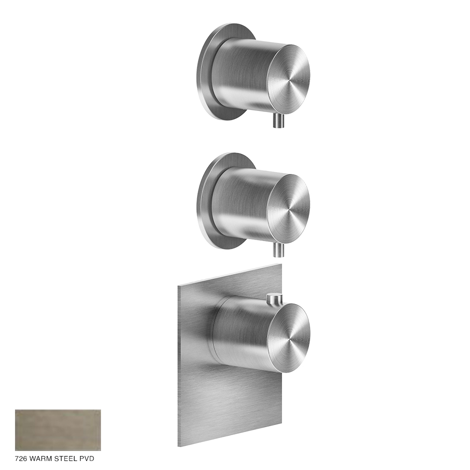 Gessi 316 Wellness Built-in mixer, two outlets 726 Warm Bronze Brushed PVD
