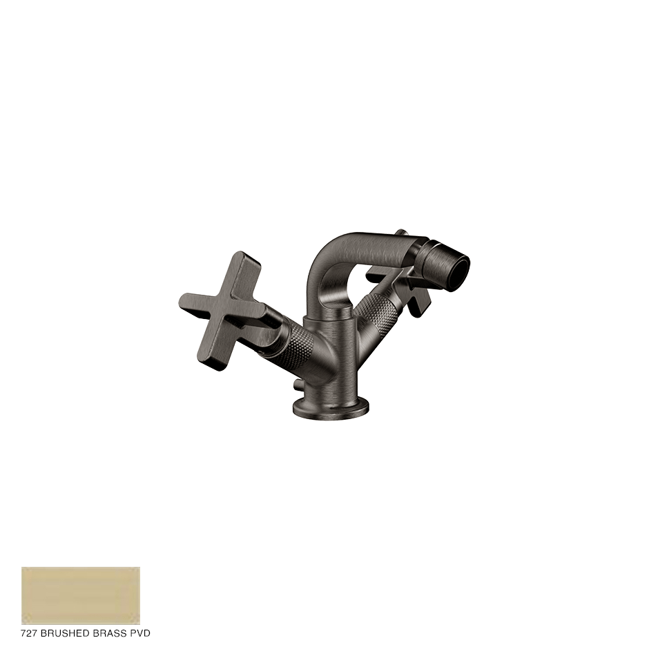 Inciso+ Bidet mixer, with pop-up waste 727 Brushed Brass PVD