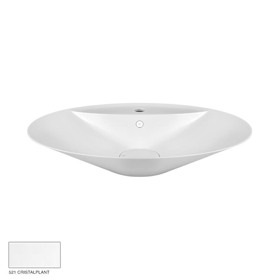 Cono Counter washbasin, with overflow waste 521 Cristalplant