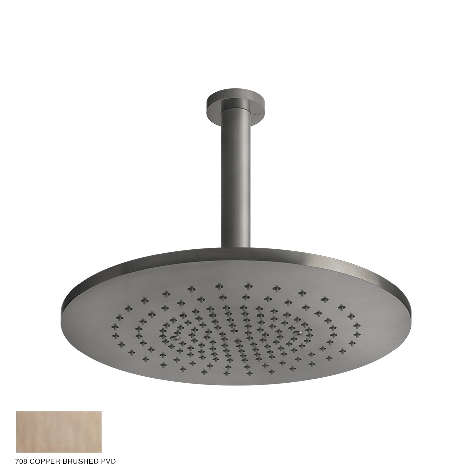 Gessi 316 Ceiling-mounted showerhead 708 Copper Brushed
