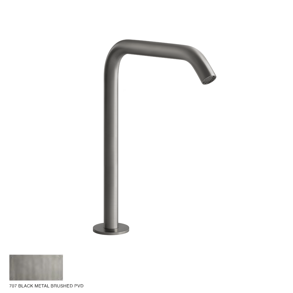 Gessi 316 Counter spout 230mm, with seperate control 707 Black Metal Brushed PVD