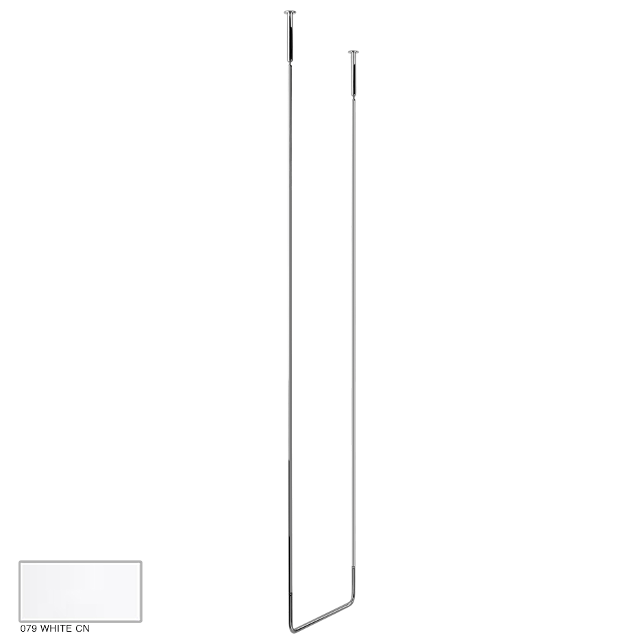 Goccia Ceiling towel rail, 45cm width, 180cm height 079 White CN
