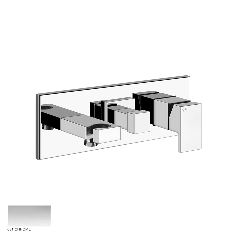 Rettangolo Shower mixer with diverter, hook, two-way 031 Chrome