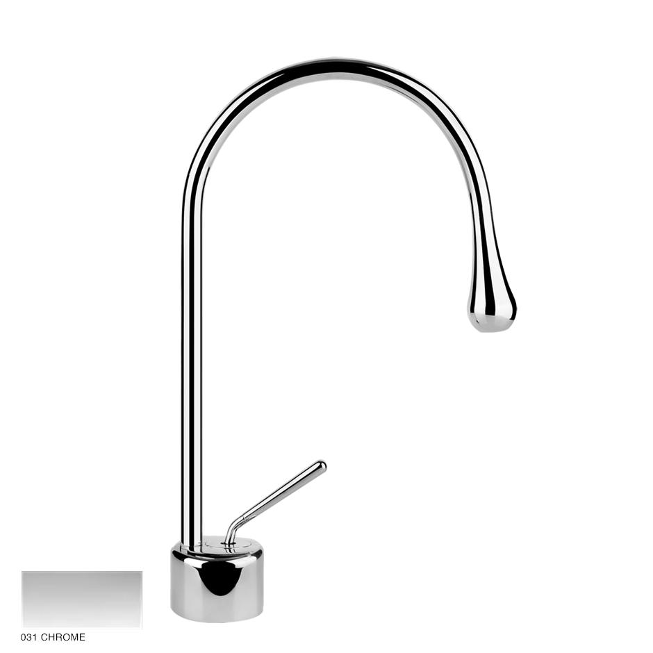 Goccia Basin mixer with radius 90, without waste 031 Chrome