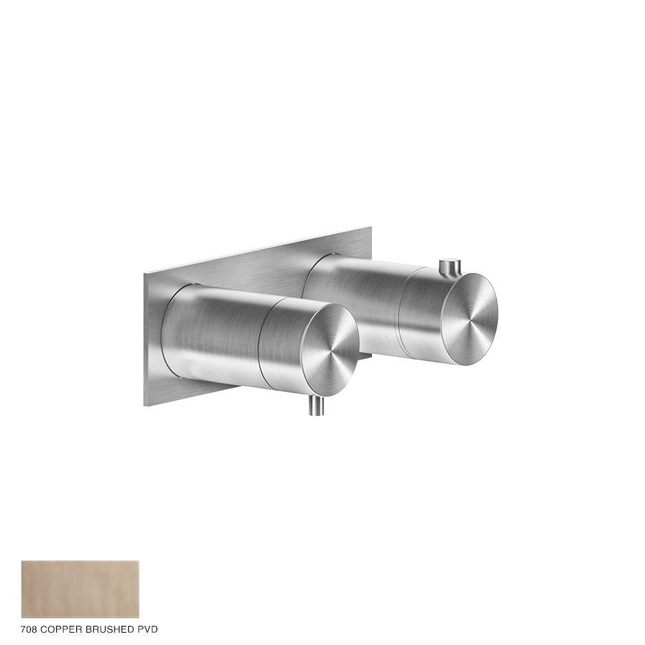 Gessi 316 Thermostatic Mixer, three-way 708 Copper Brushed