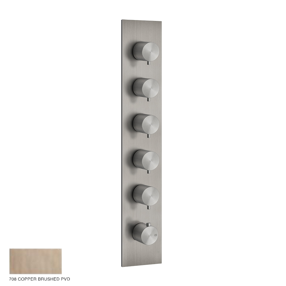 Gessi 316 Wellness Built-in mixer, five outlets 708 Copper Brushed PVD