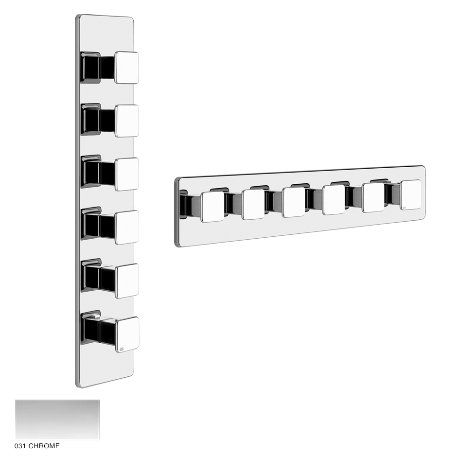 Ispa Wellness Built-in mixer, five outlets 031 Chrome