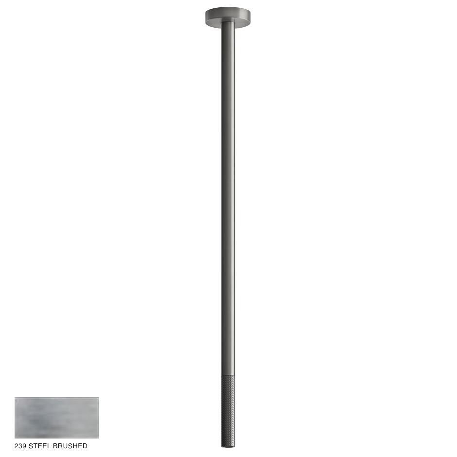 Gessi 316 Ceiling-mounted spout Cesello, seperate control 239 Steel brushed