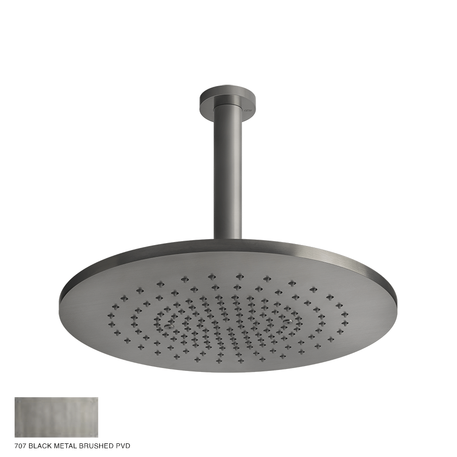 Gessi 316 Ceiling-mounted showerhead 707 Black Metal Brushed