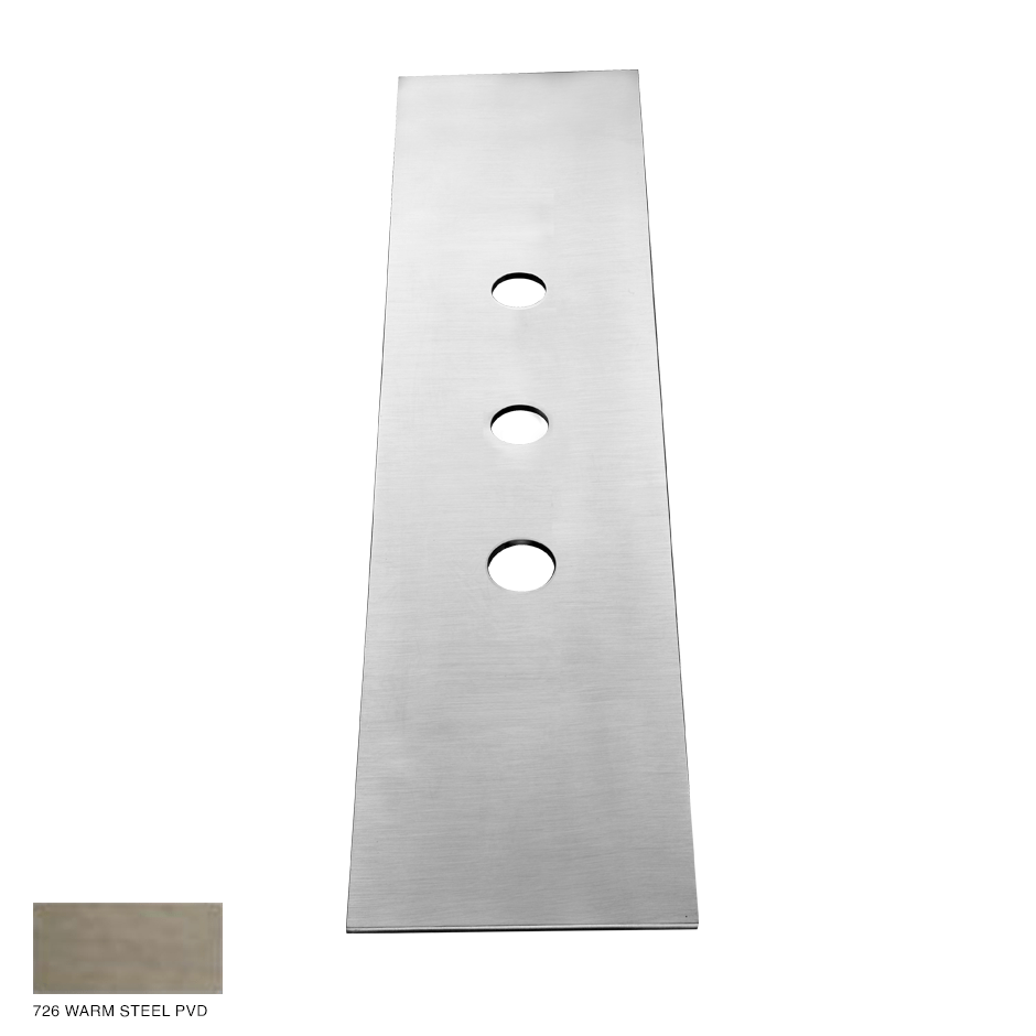 Gessi 316 Three-hole finishing plate for mounting box 726 Warm Bronze BrushedPVD