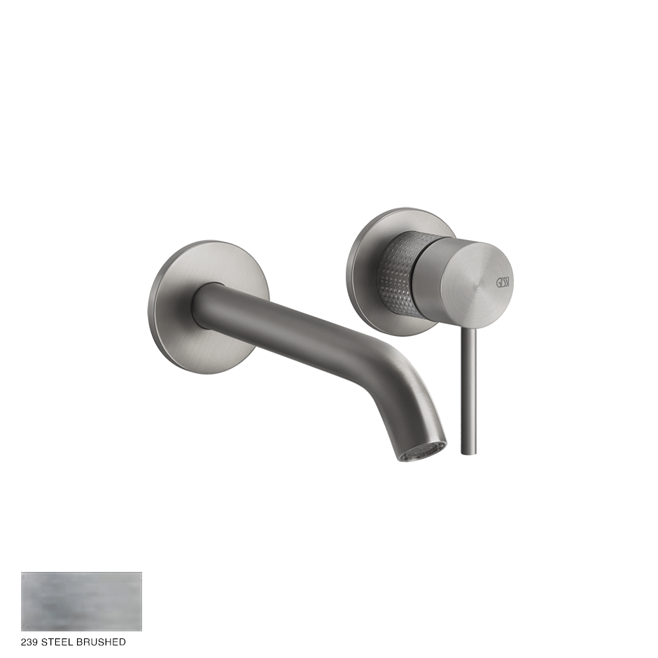 Gessi 316 Built-in Mixer with spout Cesello, without waste 239 Steel brushed