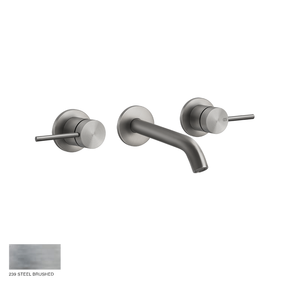 Gessi 316 Built-in Three-hole Mixer Flessa, without waste 239 Steel brushed