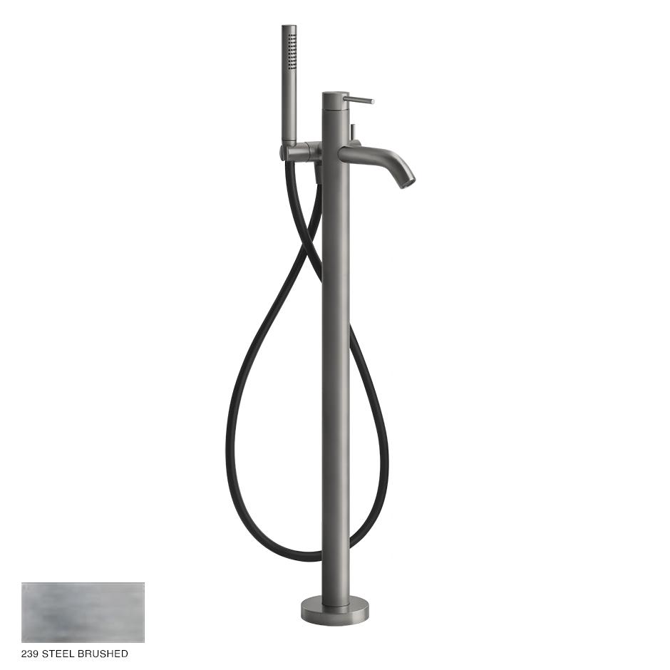 Gessi 316 Free-standing Bath Mixer with handshower 239 Steel brushed
