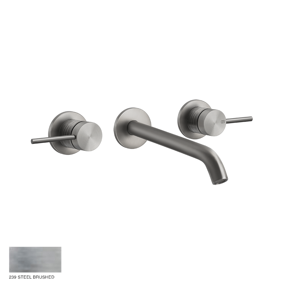 Gessi 316 Built-in Three-hole Mixer Trame, without waste 239 Steel brushed