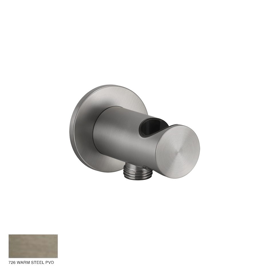 Gessi 316 Handshower hook with water outlet 726 Warm Bronze Brushed PVD