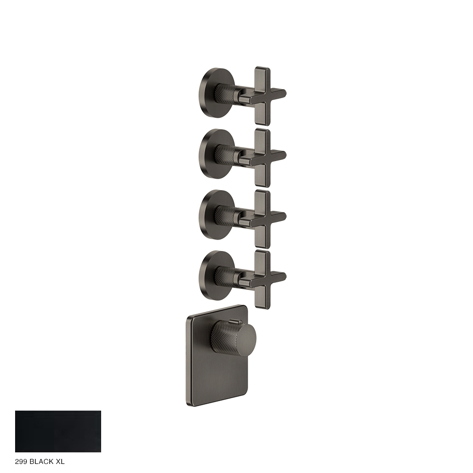Inciso Wellness Built-in mixer, four outlets 299 Black XL