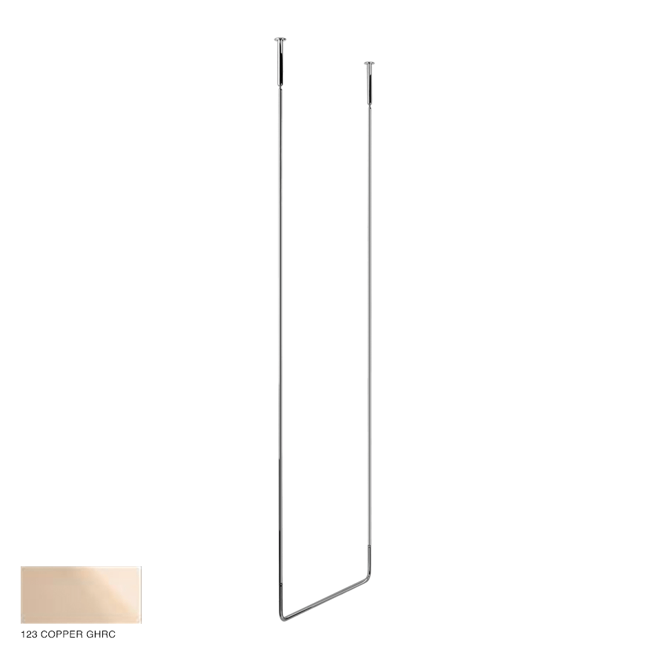 Goccia Ceiling towel rail, 60cm width, 180cm height 123 Copper GHRC