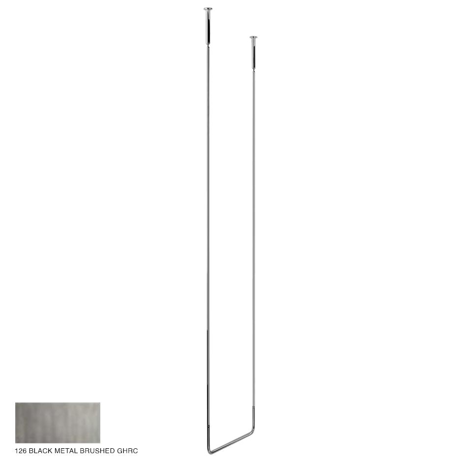 Goccia Ceiling towel rail, 45cm width, 180cm height 126 Black Metal Brushed GHRC