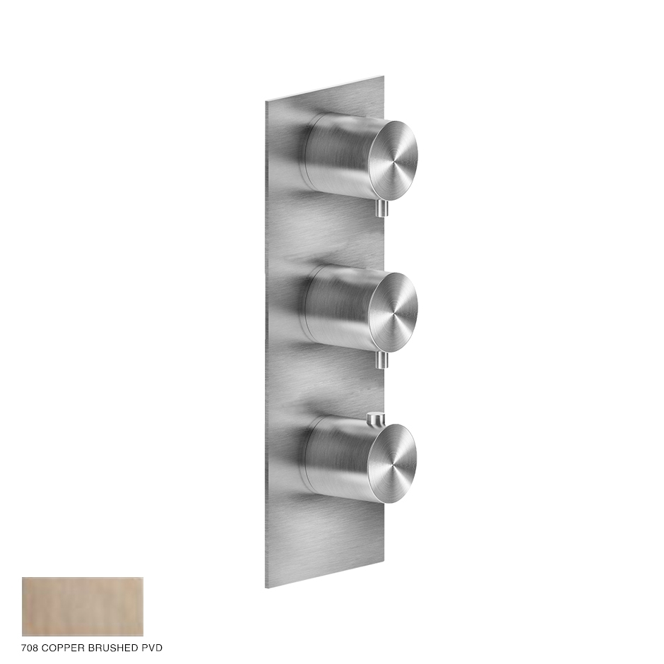 Gessi 316 Wellness Built-in mixer, two outlets 708 Copper Brushed PVD