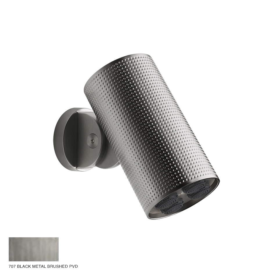 Gessi Spotwater Cesello Wall-mounted Showerhead 707 Black Metal Brushed PVD