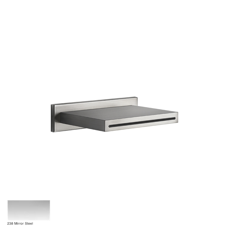 Wall-fixing cascade shower spout with separate control 238 Mirror Steel