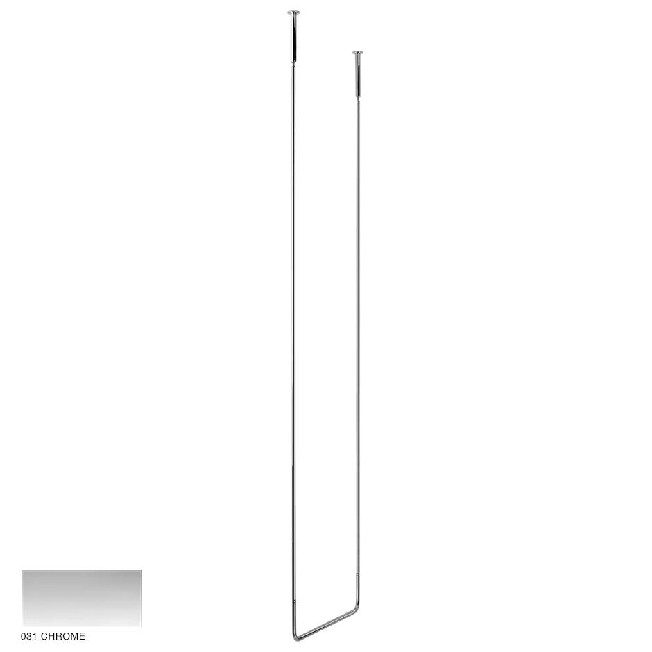 Goccia Ceiling towel rail, 45cm width, 180cm height 031 Chrome