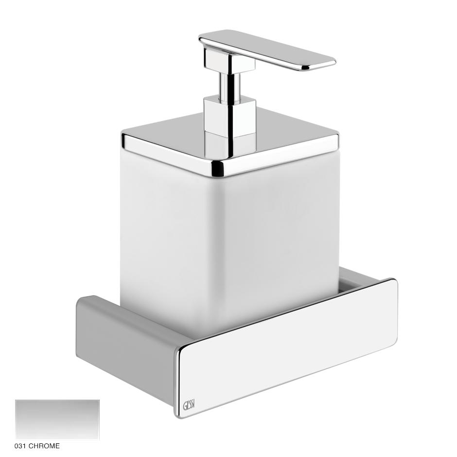 Ispa Wall-mounted soap dispenser holder white 031 Chrome