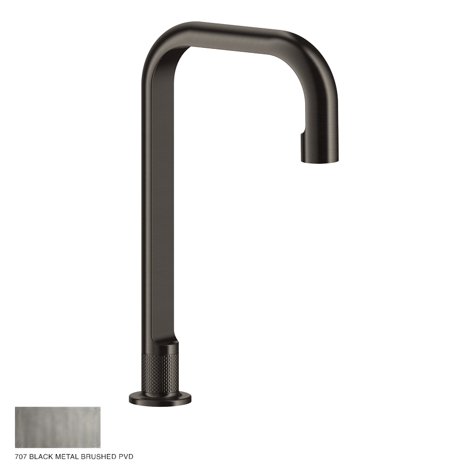 Inciso- Counter spout 314mm, seperate control 707 Black Metal Brushed PVD