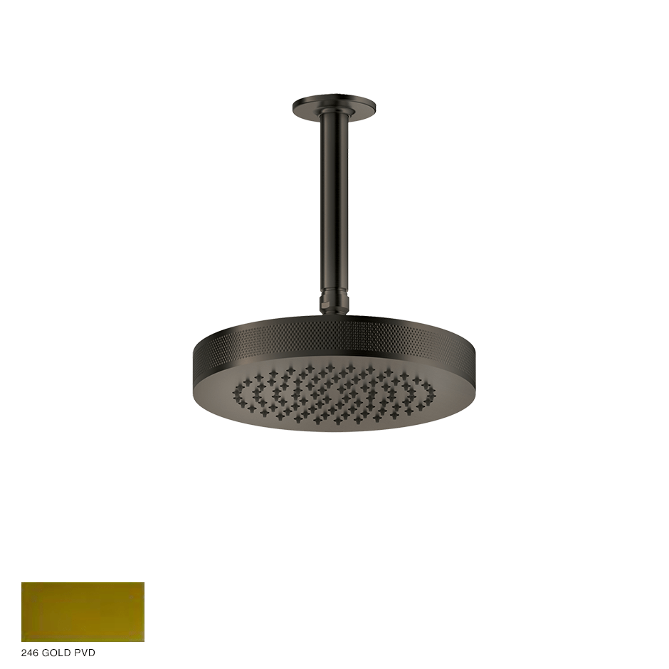Inciso Ceiling-mounted Showerhead, custom length 246 Gold PVD